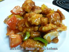 Chinese style sweet and sour fried chicken.