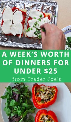 A week's worth of dinners for under $25 from Trader Joe's