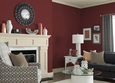 Burgendy Accent Wall