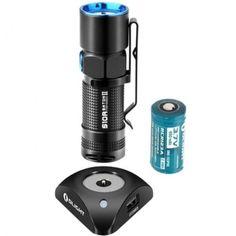 Olight-S10R-II-Baton-500-lumens-Cree-XP-L-HD-LED-Flashlight-w-RCR123-Battery