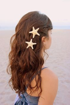 Fit for a mermaid <3  (Starfish Barrettes by LandlockedMermaids on Etsy)