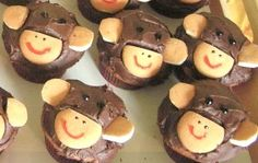 Monkey cupcakes.  I made these for my little monkey a few years ago!  He loved them and they were so easy!