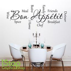 BON APPETIT WALL STICKER QUOTE - KITCHEN HOME WALL ART DECAL X281