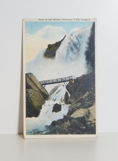 Vintage Postcard Valentine & Sons Travel Postcard Cave of the Winds American Falls Niagara Photo Style Postcard Vintage Paper Ephemera by OffbeatAvenue on Etsy