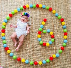 Monthly Baby Photos, Newborn Baby Photos, Baby Girl Newborn, Monthly Pictures, Funny Baby Photography, Newborn Baby Photography, Photography Ideas, Half Birthday Baby, Foto Baby
