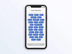 Ingredients Selection tags ingredients recipes iphone x after effects transition interaction animation mobile ios iphone app - Niklas Mügge - Dekoration Web Design, App Ui Design, Interface Design, Flat Design, User Interface, Graphic Design, Ui Animation, E Commerce, Mobile Ui Patterns