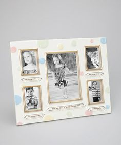 Look what I found on #zulily! Cream Polka Dot 'Me Me Me' Frame by Grasslands Road #zulilyfinds