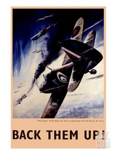 Back Them Up! RAF Hurricanes Working with Russian Air Force Art Print at Art.co.uk