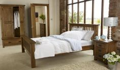 Toulouse - Cosy and irresistible, this gorgeous bedroom collection is made from reclaimed solid oak. Natural characteristics are retained giving each piece individuality and style. Old Bed Frames, Wooden Bed Frames, Super King Size Bed, King Size Bed Frame, Oak Bedroom, Bedroom Furniture, Master Bedroom, Bedroom Art, Bedroom Ideas
