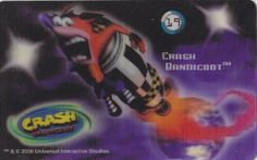 CARD CARTA 3D  CRASH BANDICOOT MR. DAY PARMALAT 2000 CARTA N.  19  OTTIMA
