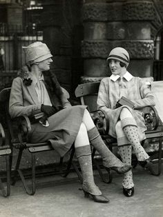 the girls who wear socks together...stay together  Scotland, 1926.