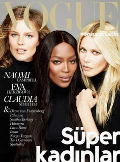 Naomi Campbell for Vogue Turkey November 2014 1