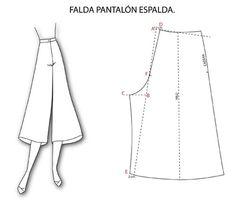Trazado de la falda pantalón                                                                                                                                                                                 Más