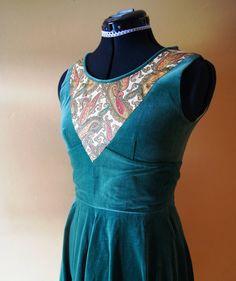 Vintage Green Velvet Dress on Etsy, Sold