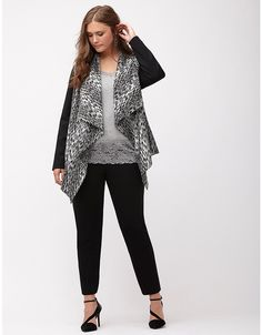 b24a4232ec Animal print draped jacket by Lane Bryant