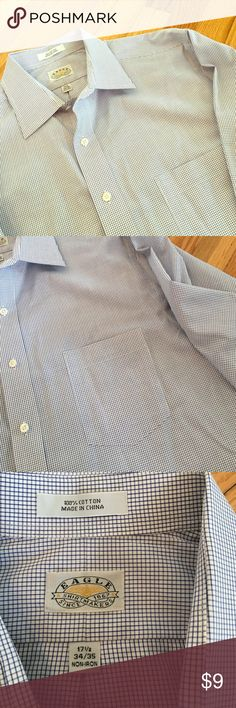 Men's Eagle Brand Button Down Shirt Non-Iron, 100% cotton Button Down Shirt by Eagle. Like new condition- don't remember my husband ever wearing. Size: 34-35, Neck: 17.5 Eagle Shirts