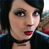halloween cat face painting designs