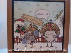 Handmade card by Martina Tidball. Hobby Art Daryl the Quirky Turkey stamp set.