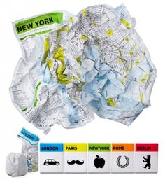 the crumpled map