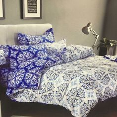 New Beautiful electro blue and white collection  119 AED only 0529450555 http://ift.tt/1JCVHhi 1 Duvet cover 200x230 cm 1 Bed sheet 250x270 cm 4 Pillows case 48x74 cm