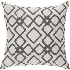 Pewter & Feather Grey accent pillow. Great home decor item, gift idea, or bedroom and living room accent piece.
