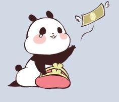 i so feel you rn baby panda T^T Panda Funny, Cartoon Panda, Cute Panda, Cute Cartoon, Panda Kawaii, Kawaii Chibi, Kawaii Cute, Kawaii Anime, Kawaii Drawings