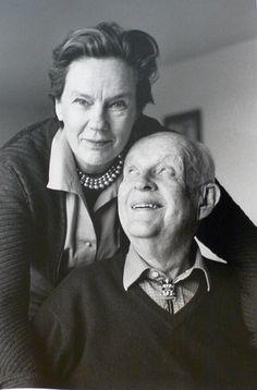 Martine Franck and Henri Cartier-Bresson.