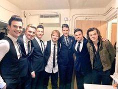 #UNSEEN Harry with Ed Sheeran few months ago! #EMABiggestFans1D