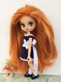 Custom Petite Blythe Doll OOAK Art Doll Named Coral by EmmyB.lythe