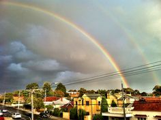 Double rainbow, double pot of Gold?  Melbourne  Submitted by: @dxncxn  April 23, 2012