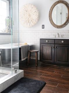 Little Green Notebook: 8 Tips for Nailing the Wood Tile Look