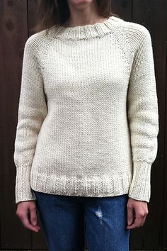 karentemplers almost perfect pullover malabrigo Chunky in Natural colorway.