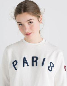 PARIS' SWEATSHIRT - SWEATSHIRTS - WOMAN - PULL&BEAR Indonesia