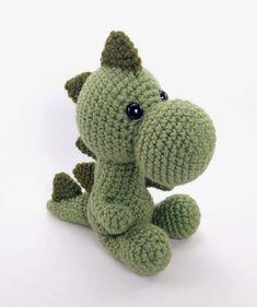 PATTERN: Mr. Dinosaur - Crochet dinosaur pattern - amigurumi dinosaur pattern - crocheted dino pattern - PDF crochet pattern by TheresasCrochetShop on Etsy https://www.etsy.com/listing/487338773/pattern-mr-dinosaur-crochet-dinosaur
