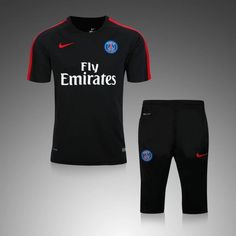 Paris Saint-Germain Cheap Black Soccer Replica Trainingsuit b30b334569d