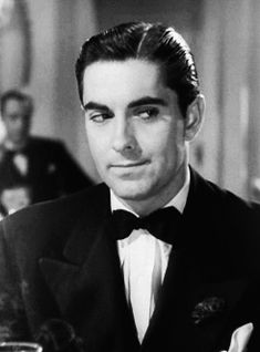 Tyrone Power Face Appreciation Day (Daytime Wife - 1939) (Gif) Oomph.