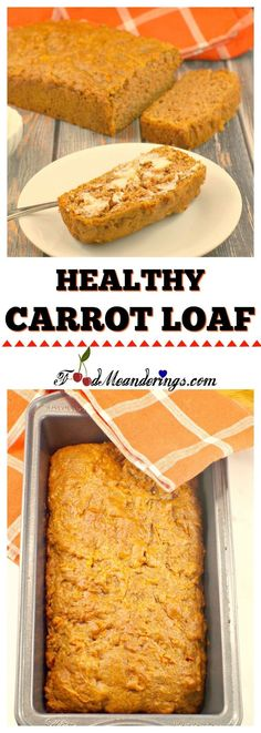 This healthy and easy carrot loaf recipe is quick, simple to make and full of real wholesome ingredients, like whole wheat flour and yogurt! It makes a great lunchbox snack or dessert.#carrot #bread #breakfastrecipes #loaf #carrot #healthyfood #healthyeating #healthy #healthyrecipes #snacks #healthysnacks