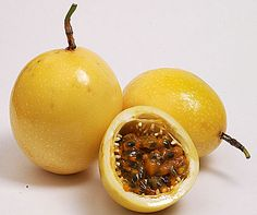 Maracuya Maracuya Maracuya is known to us as passion fruit, but in the jungle, and Exotic Fruit, Tropical Fruits, Fruit And Veg, Fruits And Vegetables, Fresh Fruit, Yellow Passion Fruit, Yellow Fruit, Fruit Names, Passionfruit Recipes