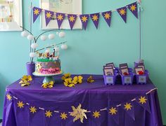 Tangled Birthday Party! I think this is the cake I'll do! About the simplest I've seen