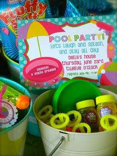 Pool Party Mini Party Package by delishparties on Etsy