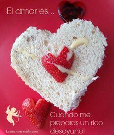sandwich de fresas Dia San Valentin