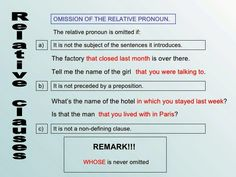 Relative Clauses / My English Blog