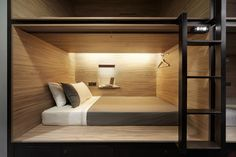 Formwerks Architects have designed the POD Hotel in Singapore. Hotel description The POD is Singapore's latest boutique capsule hotel catering to discerning travellers who desire fuss-free and convenient living. Design Hotel, House Design, Sleeping Pods, Mini Loft, Capsule Hotel, Hotel Interiors, Luxury Accommodation, Hospitality Design, Design Furniture