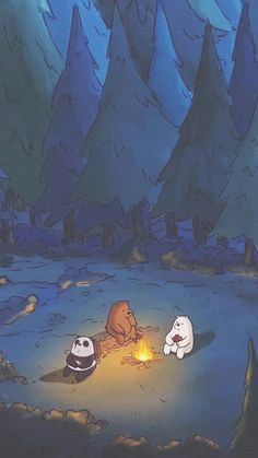 We bare bears Cartoon Wallpaper Iphone, Mood Wallpaper, Bear Wallpaper, Cute Disney Wallpaper, Scenery Wallpaper, Aesthetic Pastel Wallpaper, Kawaii Wallpaper, Cute Wallpaper Backgrounds, Tumblr Wallpaper
