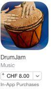 DrumJam – Percussion spielen und Loops generieren (lassen) by Stefan Gisler | posted in: 0. Instrumente, 0g. iPad und co., 9. Das Tablet als Musikinstrument, 9c. Drumcomputer, Apple (iOS), Apps, Percussion, Schlagzeug, tAPP | 0