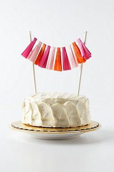 Tassel Cake Topper #AnthroFave