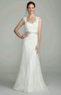 Wholesale Mermaid Wedding Dresses - Buy Cheap Discount Tulle 2014 New Concise Air Design White/ivory David's Bridal Bow Sashes Cap Sleeves Wedding Dress Custom Size, $180.0 | DHgate