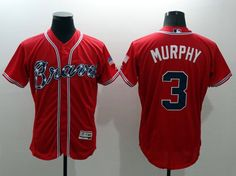 Majestic ATLANTA BRAVES  3 Dale Murphy red Flexbase Collection Jersey 07830240f