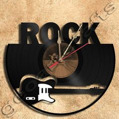 Wall Clock Rock Vinyl Record Clock Upcycled Gift by geoartcrafts, €23.00