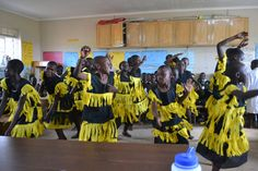 Children from Lulwanda Children's Home performing for the guests.